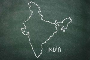 インドの地図画像
