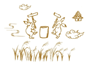 兎餅つき画像