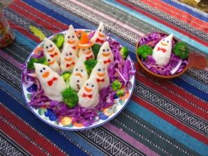 ハロウィンの食べ物写真